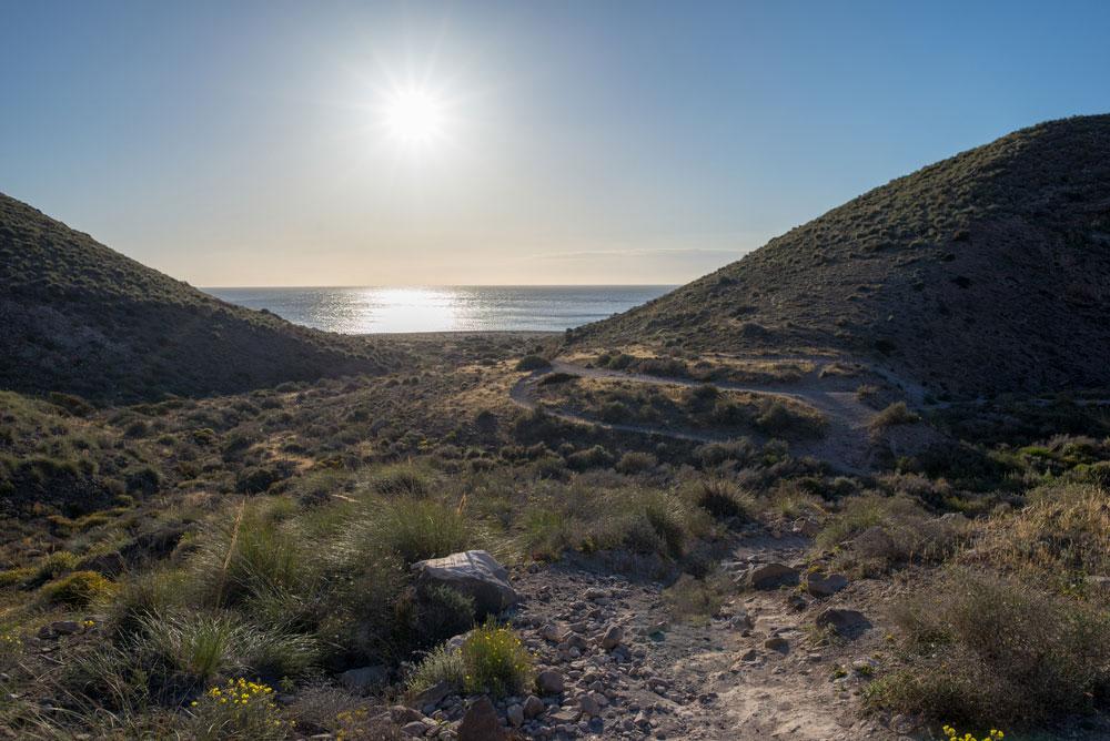 Camino de acceso a la Playa de los Muertos,Almería