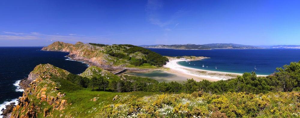 Playa de Rodas en Islas Cíes, Pontevedra, Galicia