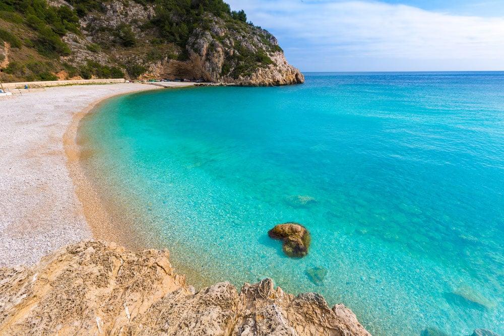 Playa de Granadella en Jávea, Alicante. Comunidad Valenciana