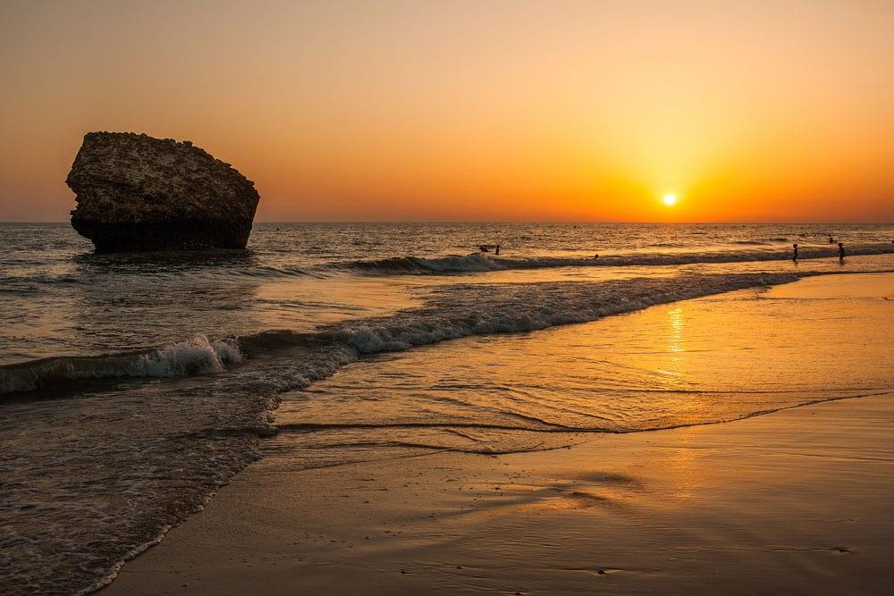 Puesta de Sol en Playa de Matalascañas, Huelva