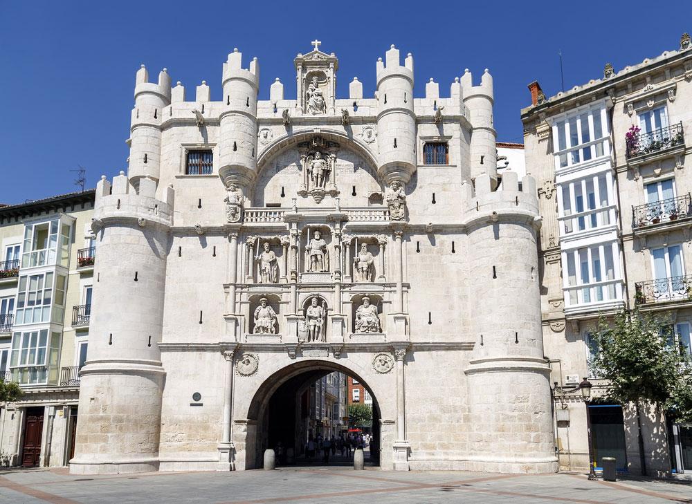 Arco con Puerta de Santa María en Burgos