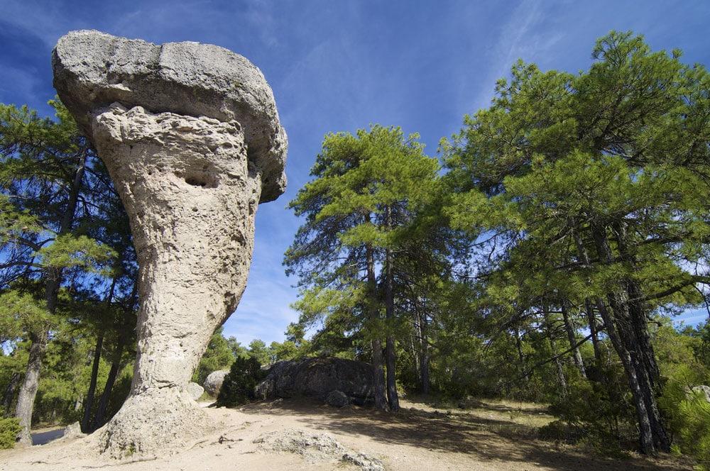 Formación rocosa en ciudad Encantada, Cuenca