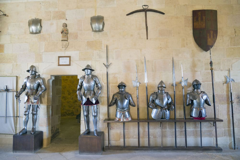 SAla de Armaduras en el interior del Alcázar de Segovia