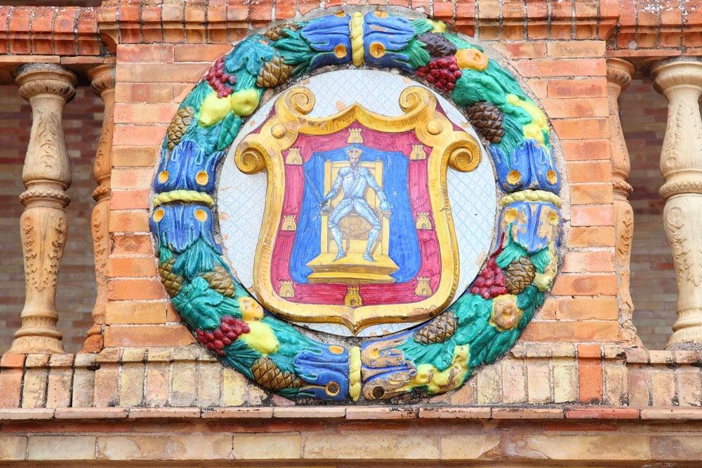 Detalle del escudo de Ciudad Real