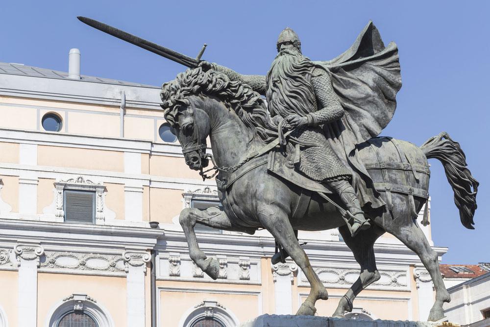 Estatua ecuestre de Rodrigo Díaz de Vivar, el Cid Campeador, Burgos