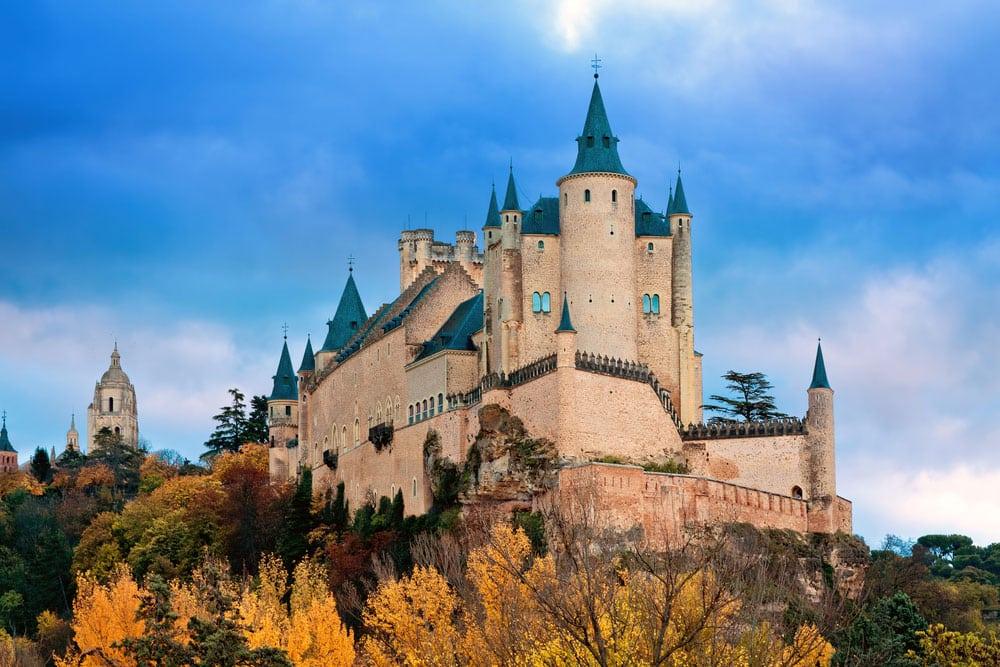 Vistas generales del Alcázar de Segovia