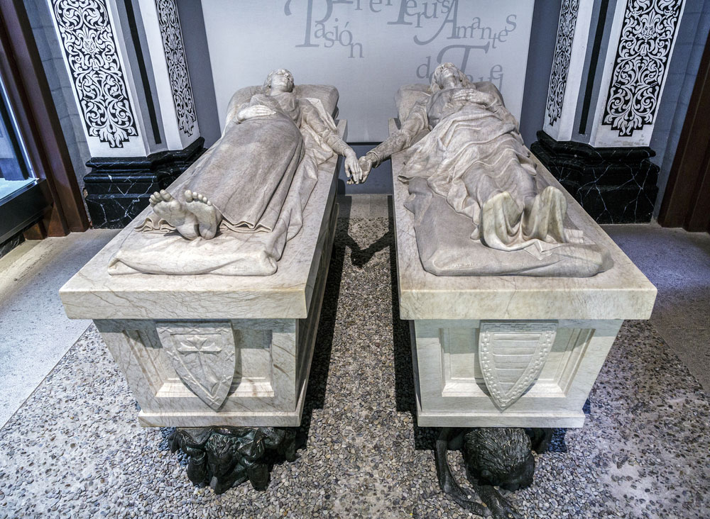 Detalle del mausoleo de los Amantes de Teruel