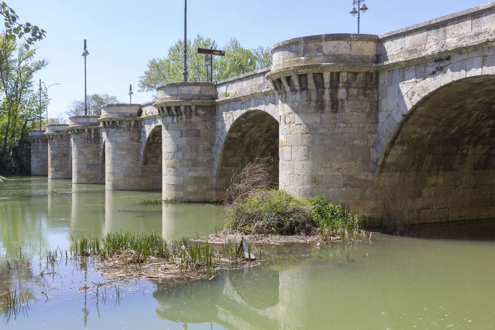 Detalle del Puente Mayor en Palencia